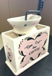 50's Clemenson California Pottery Coffee Grinder Wall Pocket
