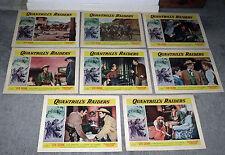 QUANTRILL'S RAIDERS original 1958 lobby card set STEVE COCHRAN/LEO GORDON