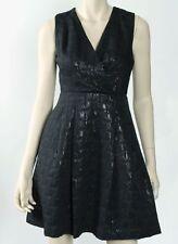 KIRNA ZABETE AT TARGET WOMEN'S SLEEVELESS METALLIC JACQUARD DRESS, BLACK, SIZE 4