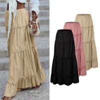 Mode Femme Jupes Robe Casual en vrac Couture Plissé Tailles elastique Maxi Plus