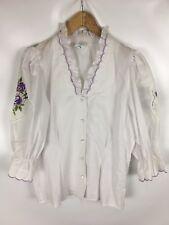LANDHAUS MODE Trachten Bluse, weiß, Größe 38, Baumwolle