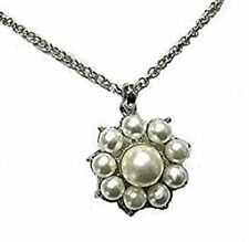 Unbranded Rhodium Pearl Costume Necklaces & Pendants
