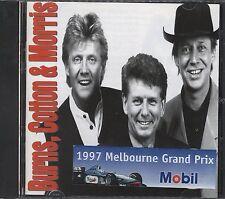 Burns Cotton & Morris 1997 Melbourne Grand prix sticker on front cd Like new