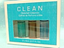 CLEAN Rollerball Perfume Collection Trio ~ WARM COTTON White Woods FRESH LAUNDRY