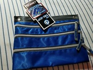 Case It Tri-zip Bag zippered bag pouch Choice of Color