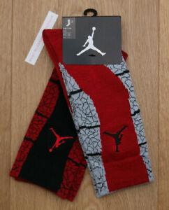 Air Jordan Boy 2 Pr High Crew Socks ~ Red, Gray & Black ~ 5Y-7Y ~ Sock Sz 9-11