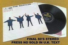 """"""" HELP ! """" BEATLES SUPER UK RARE FINAL YELLOW BLACK LABEL STEREO NO SOLD IN UK"""