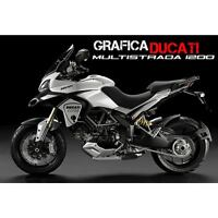 KIT ADESIVI STICKERS CARENA ADESIVO DUCATI MULTISTRADA NERO GRAFICA CARENE 1200