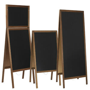 Kundenstopper Kreidetafel Holz 8 Größe (90/100/115/118/141/160/164) Aufsteller