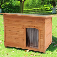 Large Wooden Dog Pet Run Kennel Warm House Home  Shelter Removable Floor
