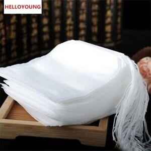Teabags 100Pcs Tea Bags Strainer Infuser String Heal Seal Paper Herb Tea Filter