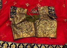 Indian Bridal Net Saree Sari With Readymade Designer  Blouse 10/12
