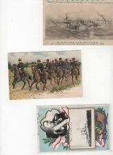 Russia Japan war 1905 3x p.cards, propaganda (Z2)
