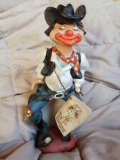 Vintage 1980 Enesco Annette Little The Cowboy Clown Figurine