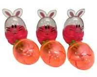 6pk Easter Character Container Bunny&Carrot Easter Egg Refiller Party Home Décor