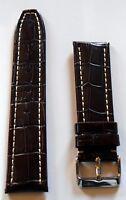 Neu hochwertiges Elysee Uhrenband Uhrenarmband Leder dunkelbraun 24mm E20