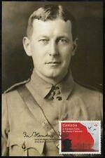 CANADA #2836.2 - LT COL JOHN McCRAE -100th ANN  IN FLANDERS FIELDS, MAXICARD #2