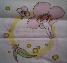 Sweet GUMNUT BABY Fabric Panel Patches ( 7.5cm x 7cm) #7