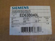 SIEMENS MOLDED CASE CIRCUIT BREAKER ED63B040L - NEW - FREE SHIPPING