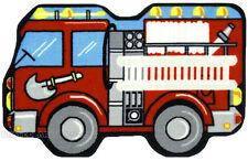 """31"""" x 47""""  Fire Truck  Rug   Fire Engine  Kids  Shaped Play Mat  3x4 New"""