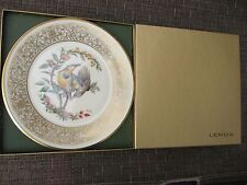 "1973 Lenox ""Meadowlark"" by Edward Marshall Boehm 24 kt. gold trimed plate"