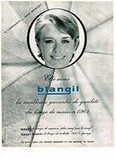 PUBLICITE ADVERTISING  1964   BLANGIL  linge de maison  toilette