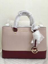 NWT MICHAEL KORS  Savanah Color Block Large Saffiano Leather Satchel Bag $328