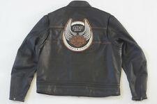 Harley Davidson Men's 105th Anniversary Winged B&S Leather Jacket 2XL 97105-08VM