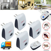 4PCS Ultrasonic Electronic Pest Repeller Rat Mosquito Insect Rodent Mouse Killer