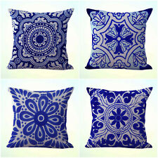 US Seller- 4pcs cushion covers Mexican Spanish talavera decorative pillowcases