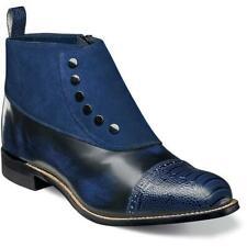 Stacy Adams Men's Shoes Madison Cap Toe Side Zip Navy 00083-410
