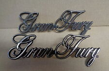 1977 PLYMOUTH GRAN FURY OEM EMBLEMS, PAIR,USED  ++MAY FIT MANY OTHER PLYMOUTHS++