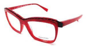Alain Mikli Rx Eyeglasses Frames A02018 1057 54x15 Marbled Red / Matte Black