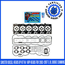 Sinister Diesel Heads Up Kit w/ ARP Heads for 2003-2007 5.9L Dodge Cummins