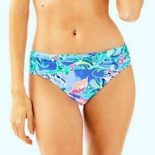 NWT Lilly Pulitzer Lagoon Sarong Bikini Bottom Bennet Blue Celestial Seas Sz 14