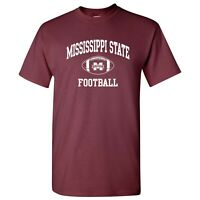 Mississippi State Bulldogs Classic Football Arch T-Shirt - Maroon