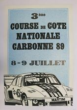 AFFICHE PORSCHE 935 COURSE COTE CARBONNE 31 1989 MARTINI RACING car auto rallye