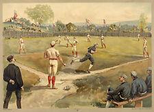Images of Americana: Base Ball, c.1887 - Fine Art Reproduction