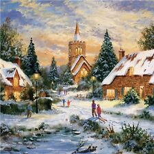 Charity Christmas Cards - Village Snow (10 Cards of 1 Design)