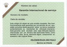 ROLEX Certificate Service Submariner 16618 16800 16803 16808 168000 14060M OEM
