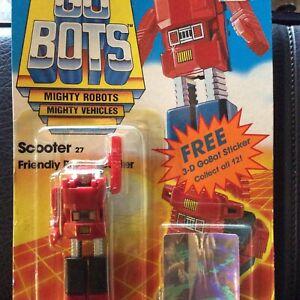 Vintage 1985 TONKA GoBots Halogram card SCOOTER #27 Transformers  MOSC MOC MIP
