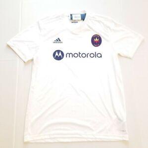 Mens Adidas MLS Chicago Fire FC Aeroready Home Soccer Jersey Blue NWT