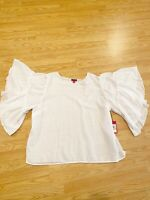 Vince Camuto Womens Plus Size 3X White Romantic Blouse Top Shirt NEW $89