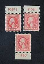 Ckstamps:Us Stamps Collection Scott#526 527 528 Washington Mint H Og #526 Crease