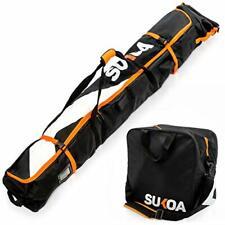 Ski Bag and Ski Boot Bag Combo for Air Travel Unpadded - Ski Luggage Bags for...
