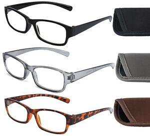 Unisex Slim Anti Blue Light Blocking Reading Glasses With Case Computer Screen