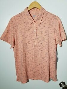 1 NWT SKECHERS WOMEN'S POLO, SIZE: X-LARGE, COLOR: CORAL/NAVY (J112)