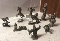 Lot of 9 Pewter Figures - 5 SPOONTIQUES AND 4 Others