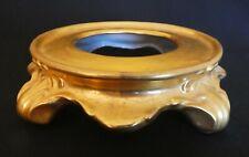 Gold Plinth Bowl Vase Stand