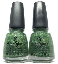 China Glaze Nail Polish THIS IS TREE MENDOUS 1261 Emerald Green Glitter Lacque